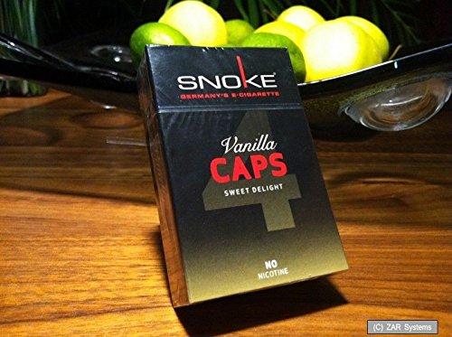 Preisvergleich Produktbild SNOKE Vanilla CAPS ohne Nikotin 4x für E-Zigaretten = 100 herkömmlichen Zigaret.