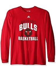 "Chicago Bulls Adidas NBA ""Rep Big"" Men's Long Sleeve T-Shirt"