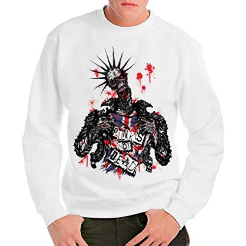Im-Shirt Gothic Fantasy Unisex Sweatshirt - Zombie: Punk's not Dead! by Weiß XXL