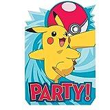 Amscan Pokémon-Einladung mit Umschlag,491844