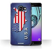Carcasa/Funda STUFF4 dura para el Samsung Galaxy A5 (2016) / serie: Naciones bandera - América/americano/EE.UU.