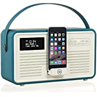 VQ Retro Mk II DAB/DAB+ Digital- und FM-Radio mit Bluetooth, Apple Lightning Dock und 'Retro Mini Hepburn Mk - Krickente