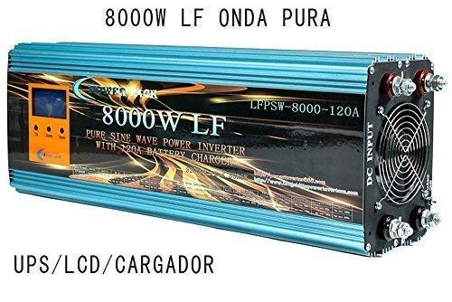 Reiner Wellen-Inverter 3000W, 5000W, 8000W mit Ladegerät 80A, 120A, 12V/24V auf 220V/230V 8000w 12v cargador 120a Grau/Rot
