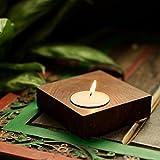 #3: ExclusiveLane Cuboidal Table Tea Light Holder In Sheesham Wood - T Lights, Hanging Lights, Decorative Lights, Candle Stand, Candle Holder, Decoration Items