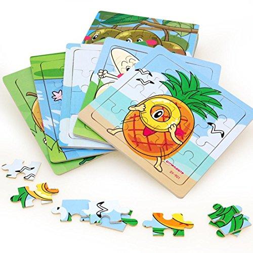 WANJU LDD-Baby Puzzle Ensemble de Puzzle en Bois de Puzzle de Jouet (12 pièces)