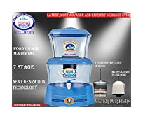 """WELLBERG Mineral Water Purifier Pot 16 L Gravity Based Water Purifier With ABS Food Grade Material ( UNREAKABLE ) 7 STAGE of Water Purification """"BLUE"""""""
