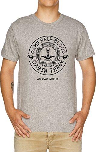 Percy Jackson - Camp Half-Blood - Cabin Three - Poseidon Herren T-Shirt Grau