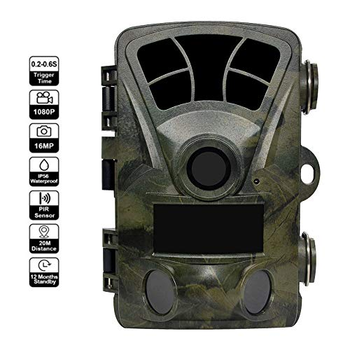 """ZNHL Outdoor Trail Game Camera,1080P Wasserproof Hunting Cam for Wildlife Monitoring mit 120°Detecting Range Motion Activated Night Vision 2.4\"""" LCD"""