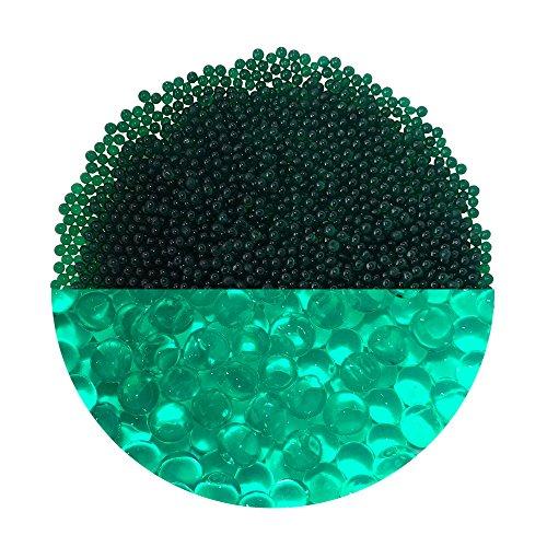trendfinding Granulat für künstliche Blumenerde Hydroperlen Hydro Perlen Wasserperlen Aquaperlen Meergrün grün 3-4 mm