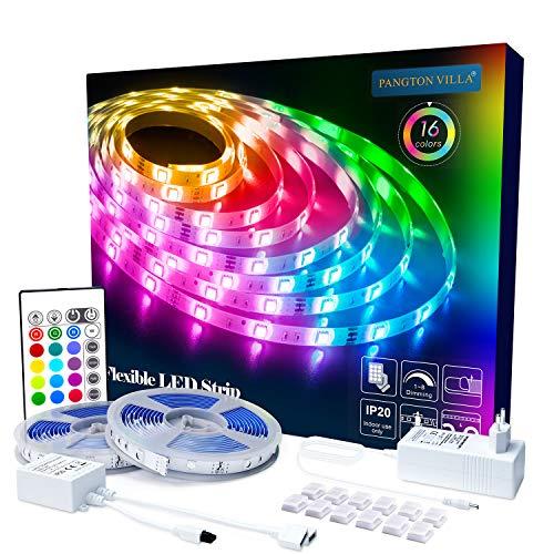 LED Strip RGB 10m LED Licht Streifen SMD 5050 Leds mit Netzteil, Fernbedienung Led stripes Lichtband Leiste Band Beleuchtung,MEHRWEG