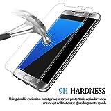 Samsung Galaxy S7 edge Panzerglas Schutzfolie, Hootech [1 Stück] Displayschutzfolie für Samsung Galaxy S7 edge Panzerfolie Displayschutz Gehärtetem Glass 9H Härtegrad, Anti-Kratzen, Einfaches Anbringen - 3