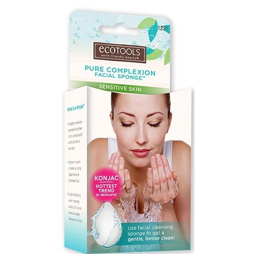 (3 Pack) EcoTools Pure Complexion Facial Sponge - Sensitive Skin - White