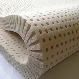 "Pure Green 100% Natural Latex Mattress Topper - Medium Firmness - 2"" Full Size"