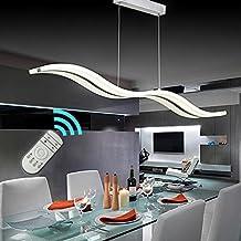 Create For Life® Suspension LED,Moderne LED Lustre, Suspendus Luminaire Plafond led Lampe,3000k-6000k,dimmable 38W