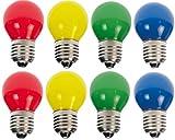 8 x LED Tropfen E27 1W bunt gemischt Deko Lampe Birne farbig für Deko Lichterketten