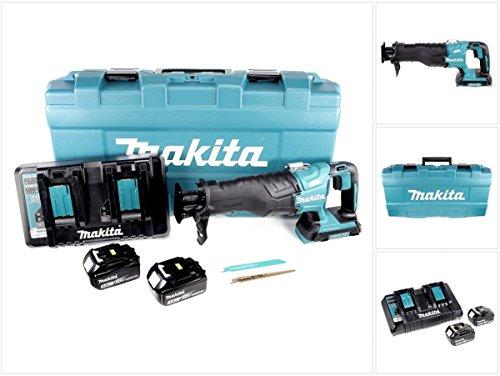 Preisvergleich Produktbild Makita DJR 360 PFJ Reciprosäge Säbelsäge im Koffer 2x 18 V mit 2x BL 1830 3,0 Ah Akku und Doppel Ladegerät