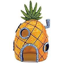 Luwu-Store - Adorno de cada con forma de piña como en los dibujos para decoración de acuario o pecera