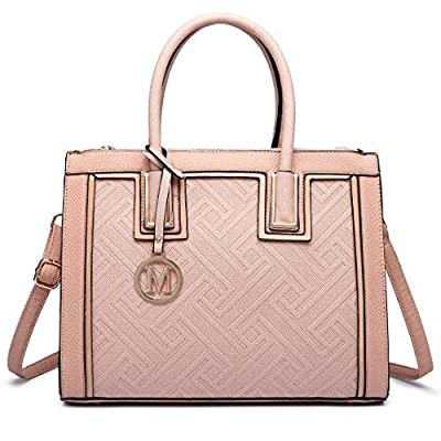 Miss Lulu Fashion Women Leather Look Shoulder Top Handle Handbag