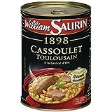William Saurin Cassoulet toulousain à la graisse d'oie, mitonné doucement La boîte de 420g Prix Unitaire - Envoi Rapide Et Soignée