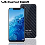 UMIDIGI One Smartphone Libre Android 8.1 Oreo Dual 4G Volte SIM Smartphone 4GB + 32GB Globale Versión 5.9 Zoll 19: 9 FD + Notch-Display Dual Kameras (12MP + 5MP) [Negro]
