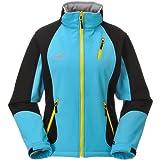COX SWAIN TITANIUM 3-Lagen Damen Softshell Jacke FOREST - 15.000mm Wassersäule 10.000mm atmungsaktiv, Colour: Blue/Black, Size: L