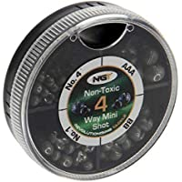 NGT 4 Way Dispenser - Non Toxic Fishing Split Shot - AAA, BB, 4,6