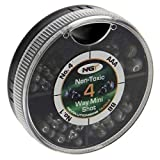 NGT 4 Way Dispenser - Non Toxic Fishing Split Shot - AAA, BB, 4,6