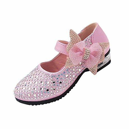 High-performance-schuhe (Bowknot Babyschuhe Hot-Diamond Shiny Schuhe mit Hohen Absätzen High-Performance Girl Princess Schuhe)