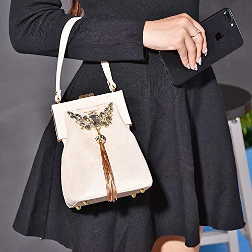 ZTDXCL Damen Clutch Handtasche Retro Abend Dinner Package Party Bankett Braut Kleid Tanzparty Abendtasche/Champagner Gold -