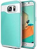 Caseology Galaxy S6 Hülle, [Wavelength Serie] Schlanke Hülle mit Textur Doppelter Schutzschicht Sichere Haftung [Mint Grün - Mint Green] für Samsung Galaxy S6 (2015)