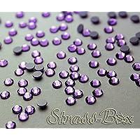 Hotfix DMC con brillantes púrpura SS16pieza número a elegir Cristal parches termoadhesivos, 250