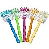 MIXELITE Mixtopf-Spülbürste Premium - perfekt für Thermomix® TM5, TM31 und TM21 - Set, 5 Stück, Zubehör für Thermomix® je 1x in Blau/Grün/Orange/Gelb/Pink, Nylonborsten