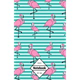 """GM&Co: Notebook Journal Dot-Grid, Lined, Graph, 120 pages 5.5""""x8.5"""": Geometric Pink Flamingo"""