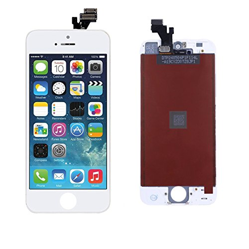 DeYoun LCD Touch Screen, Ricambio Schermo Display Completo LCD Assembly Digitizer per iPhone 5 (Bianca)