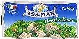 As Do Mar Piatto Pronto Piselli e Tonno - Confezione da 2 x 160 gr - Totale: 320 gr