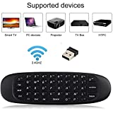 Prime Deals Latest Wireless Air Mouse With Gyroscope, Qwerty Handheld Mini Keyboard Android Remote Control For Android TV Box Windows Mac OS Linux PC HTPC IPTV Media Player Smartphone Game Pad, 1 Year Warranty