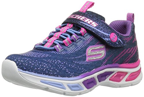 Skechers Girls Litebeams Low-Top Sneakers, Blue (Nvmt), 11.5 Child UK 29 EU