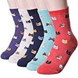 Cindeyar 5 Paar MädchenSocken Lässige Damen Socken atmungsaktive Baumwolle Winter Socken (39-42, Stil 13)