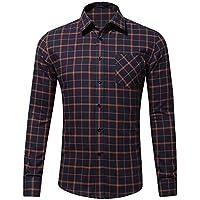 Hombres Camiseta De Manga Larga De Algodon Puro,R,La