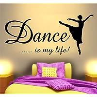 DANCE LIFE IS MY ALLLIFE-ADESIVO DA PARETE CON RAGAZZE, IDEALE PER LA CAMERA DA LETTO, CAMERETTA
