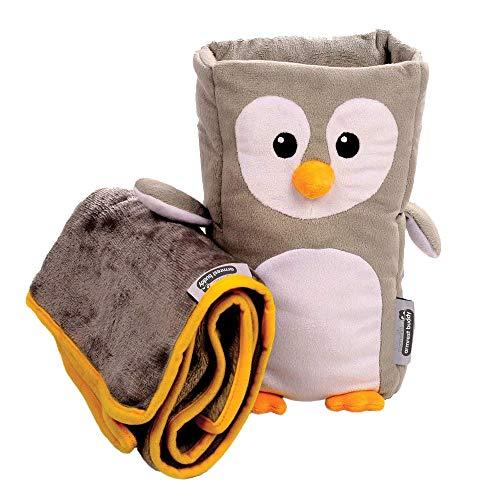 Reisekissen und Decken-Set für Kinder - 'Tux' Armrest Buddy verwandelt jede Armlehne in ein kuscheliges Kissen für Kinder - ideal für Kinder von 1,5 bis 4 Jahren -
