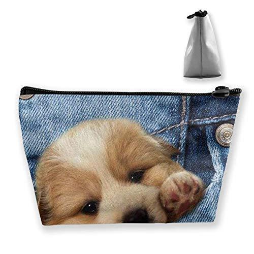 Fashion Pocket Dog Cosmetic Bag Makeup Storage Bag Toiletry Organizer Pencil Case Handbag