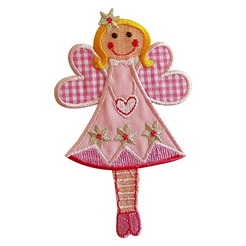 2-ecussons-patch-appliques-fairy-jilly-11x7cm-vache-8cm-high-thermocollant-brode-broderie-pour-vetem