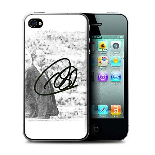 Officiel Newcastle United FC Coque / Etui pour Apple iPhone 4/4S / Pack 8pcs Design / NUFC Rafa Benítez Collection Autographe
