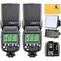Godox 2x V860II-S TTL 2.4G Flash Speedlite + X1T-S Transmitter-Auslöser für Sony HVL-F60M, HVL-F43M, HVL-F32M (2x V860II-S + X1T-S)