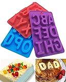 3Pcs/Lot de 26Capital lettres DIY Moule en silicone fait à la main Décoration de gâteaux Chocolat Glace Plateau moule à gelée