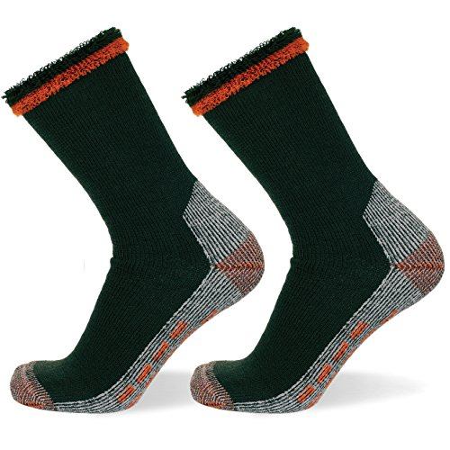 well-knitting-2pairs-mens-merino-wool-blend-outdoor-working-hiking-crew-socks-khaki-11-14