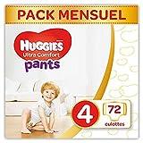 Huggies - Ultra Comfort - Culottes Bébé Unisexe - Taille 4 (9-14 kg) x72 Culottes