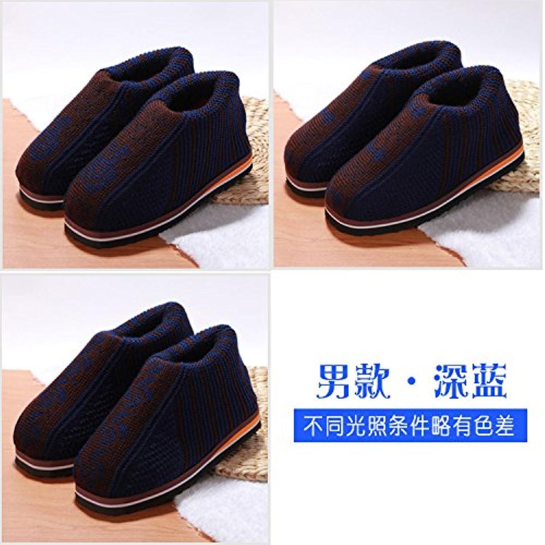 LaxBa  Invierno patinar en zapatillas piel falsa nieve forrada caliente Zapatos para hombres azul marino42/43... -