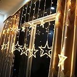 Wanshop® Solar Lichterkette, 2.5M 138LED Lichterkette Zuleitungskabel als Innenbeleuchtung und Außenbeleuchtung für Balkon Solarleuchte Garten Wasserdichte Laterne Beleuchtung (Warmweiß)